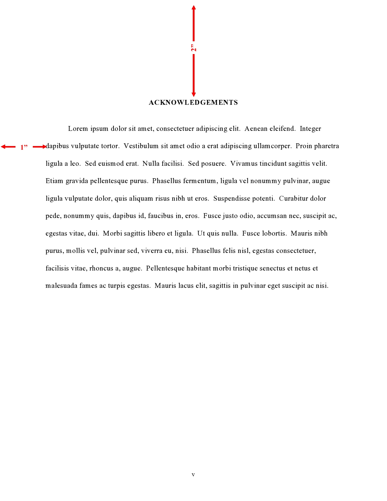 Order And Components  Thesis And Dissertation Guide  Uncchapel  Acknowledgements