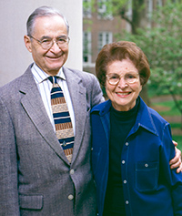 Charles and Shirley Weiss on the UNC-Chapel Hill campus