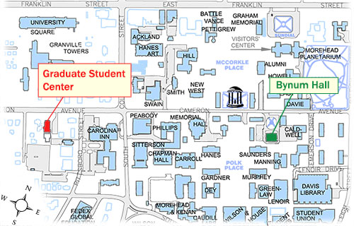university of north carolina chapel hill campus map Maps And Directions Graduate Student Center Student Life The